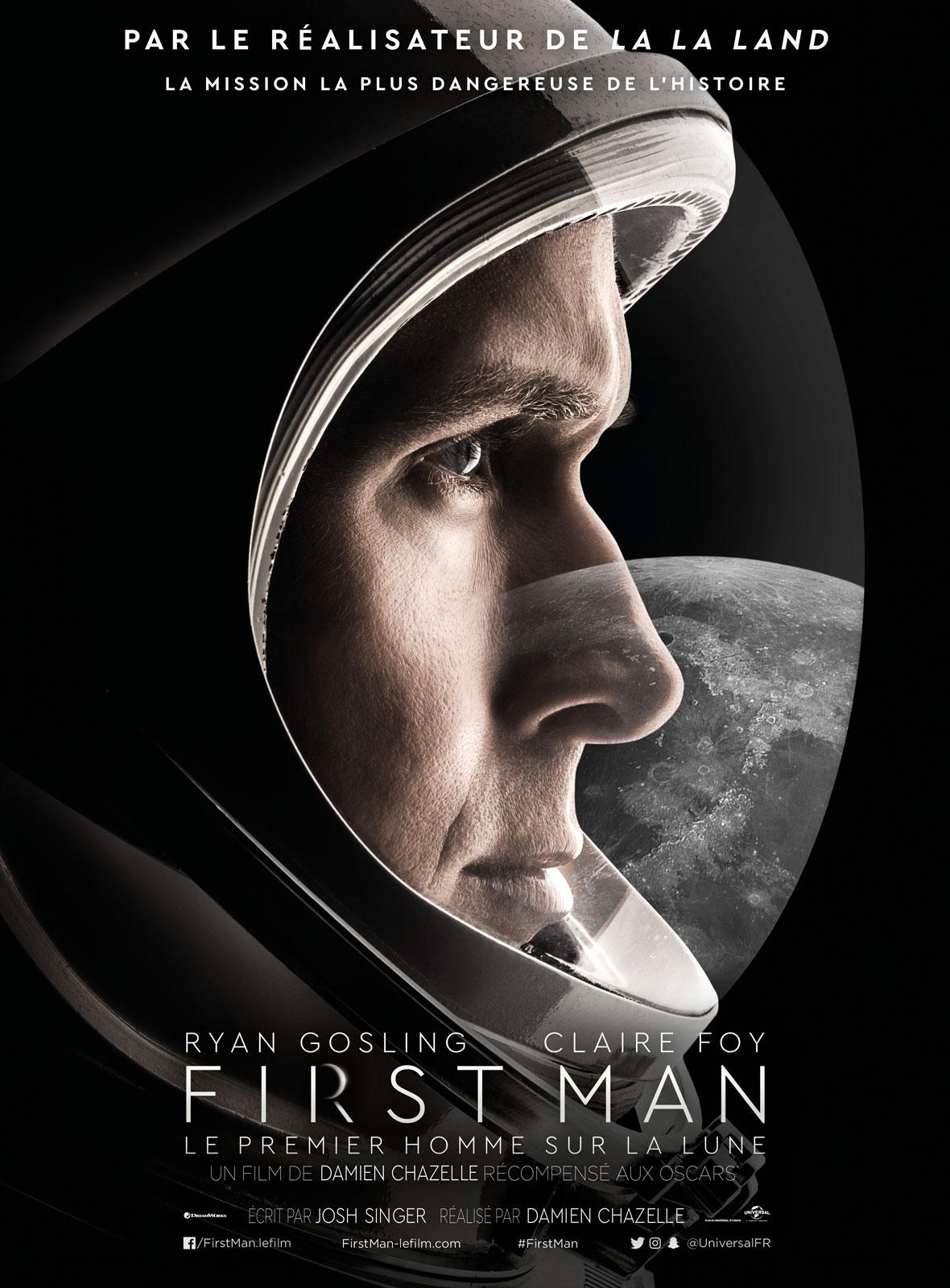 affiche First Man - le premier homme sur la Lune