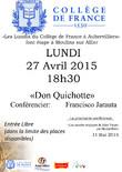 COLLEGE DE FRANCE / DON QUICHOTTE