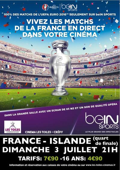 UEFA EURO: FRANCE-ISLANDE 1/4 DE FINALE