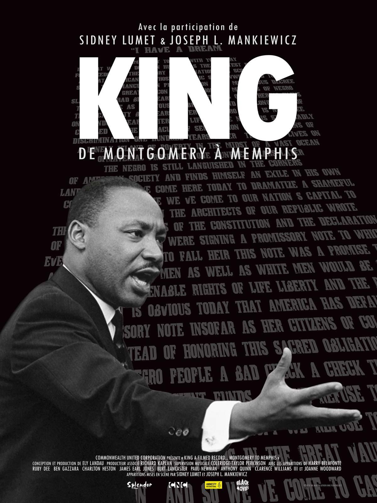 affiche King : de Montgomery à Memphis / Séance présentée par Tania de Montaigne