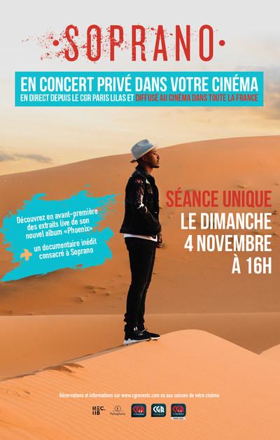 SOPRANO - LE CONCERT PRIVE AU CINEMA
