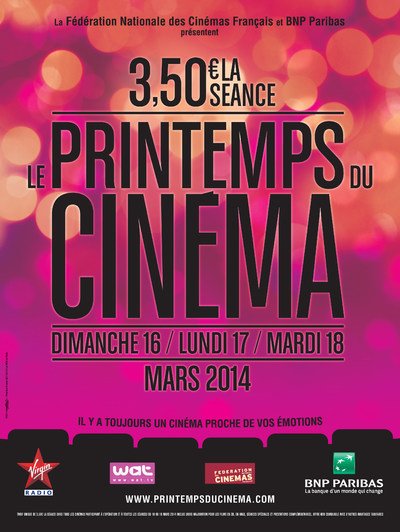 LE PRINTEMPS DU CINEMA 2014