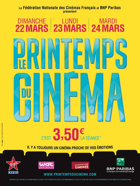 LE PRINTEMPS DU CINEMA 2015