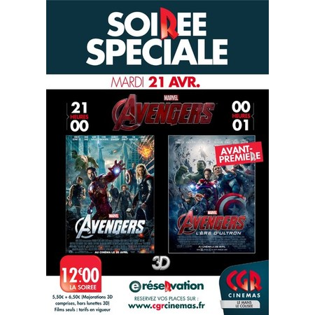 soiree avengers au cin ma cgr le mans le colis e. Black Bedroom Furniture Sets. Home Design Ideas
